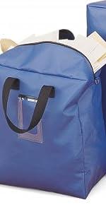 blue security bag