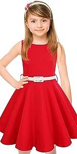 Red Vintage Girls Dress