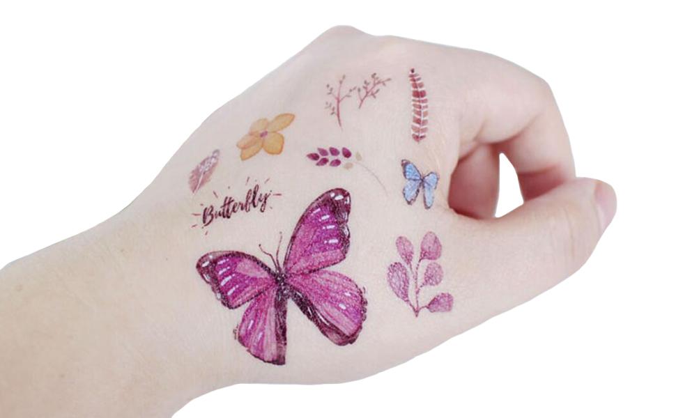SZSMART 100+ Mariposas Tatuajes Temporales, Falso Tatuajes ...