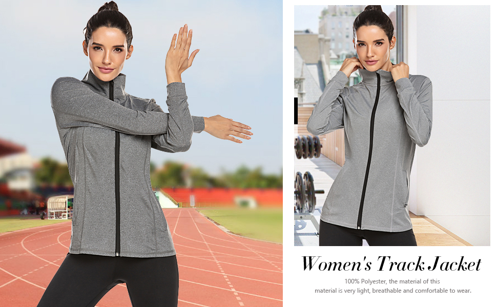 womens running jackets lightweight full zip
