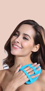 body brush silicone facial scrubber