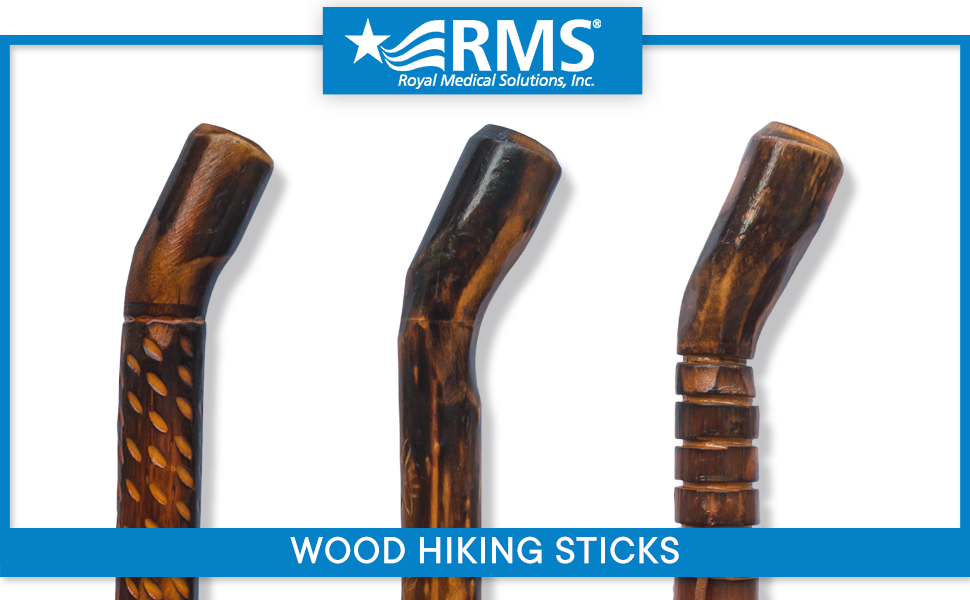 Carved hiking sticks 3 designs