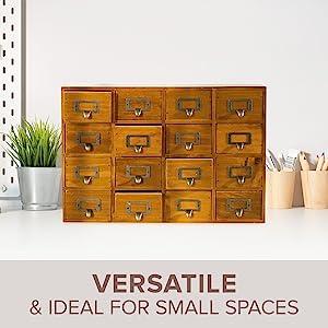 mail organizer countertop index card box desktop file organizer vanity organization