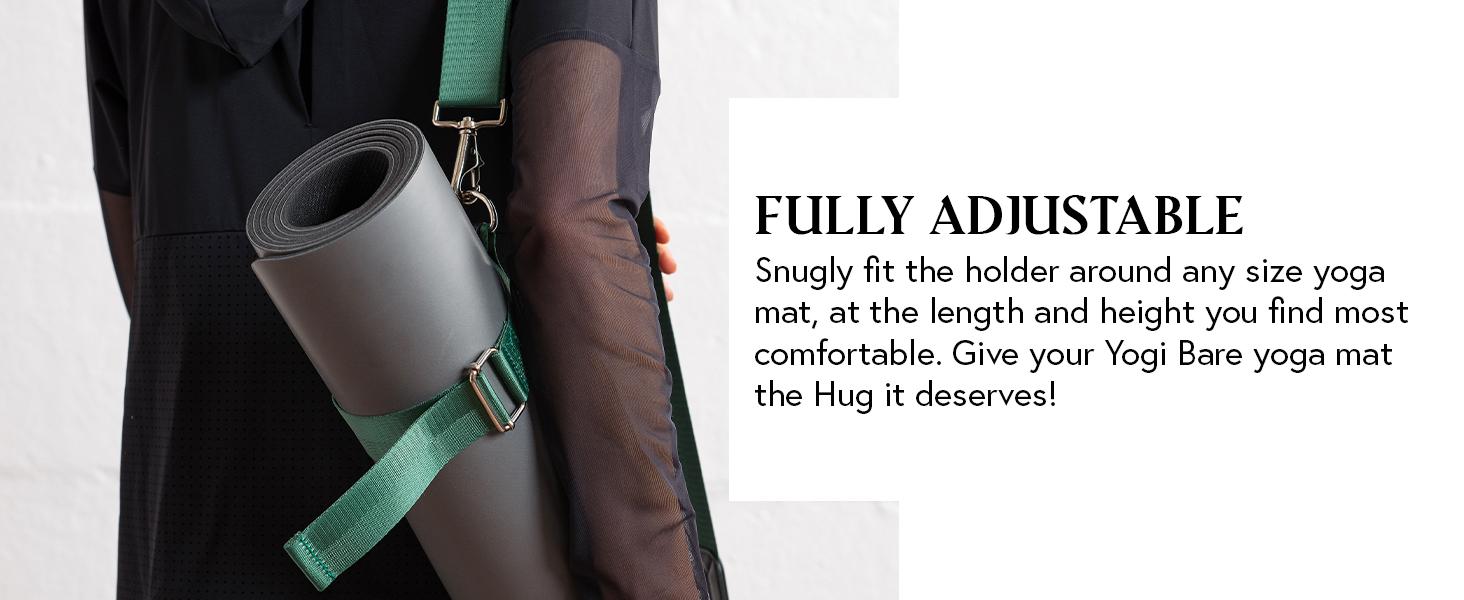 Adjustable Travel with Yogi Bare HUG Yoga Mat Holder with Carry Strap Sling