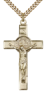 14 Karat Gold Filled Saint Benedict Crucifix