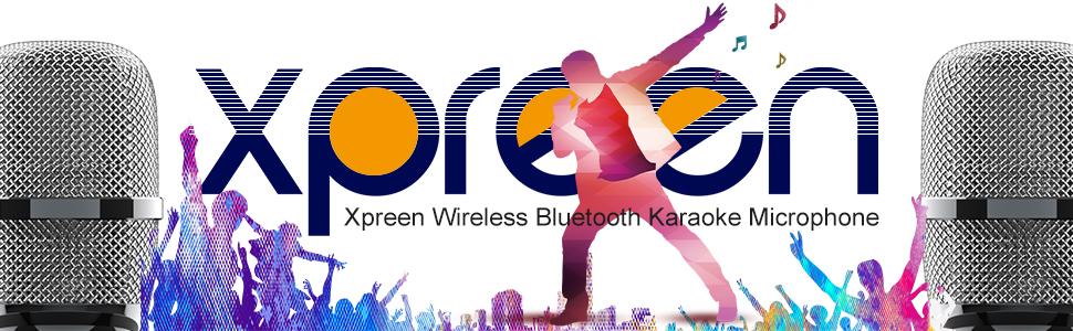 Bluetooth Karaoke Microphone - Xpreen Wireless Microphone, Portable Microphone and Speaker