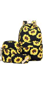 cute backpack for women sunflower bookbag for girls school backpack for teens