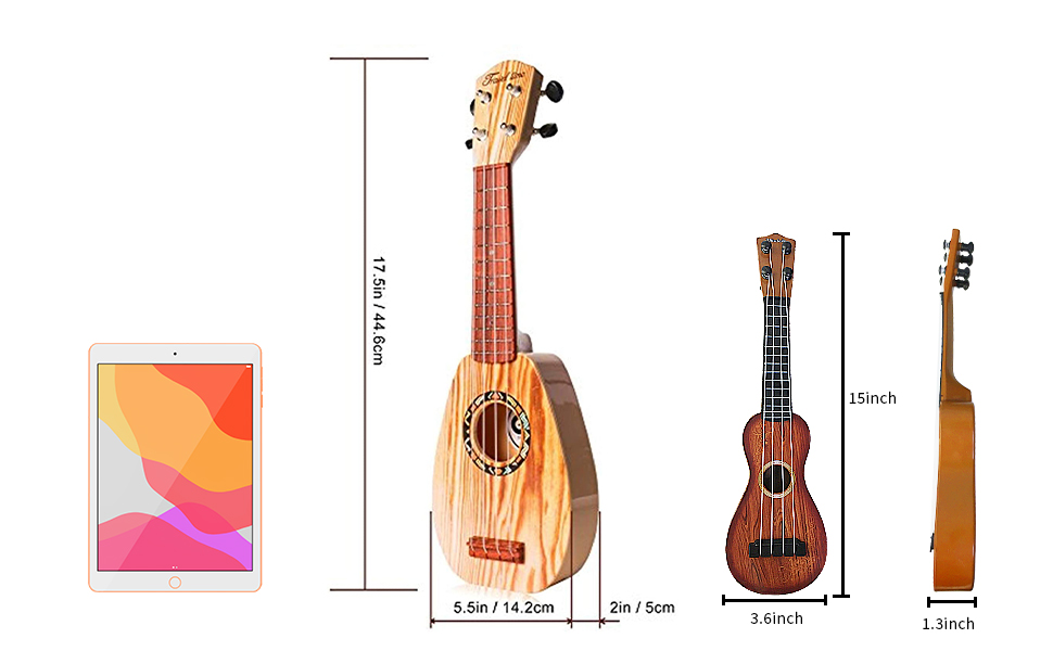 15 and 17 inch kids guitar