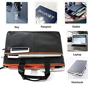 this fireproof document bag can store passports, tablets, mobile phones, key wallets and valuables
