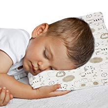 Toddler Pillow with Pillowcase-Soft Organic Cotton-Washable-Hypoallergenic-Perfect for Travel