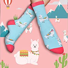 Details about  /Women/'s Fun Crew Novelty Socks Peace Sign Blue Pizza YOLO Purple Red