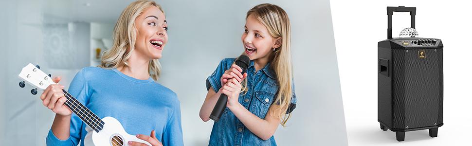 karaoke microphone with wireless mic