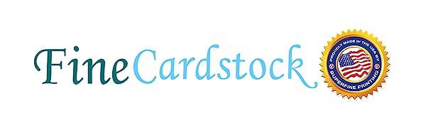 fine cardstock superfine printing logo