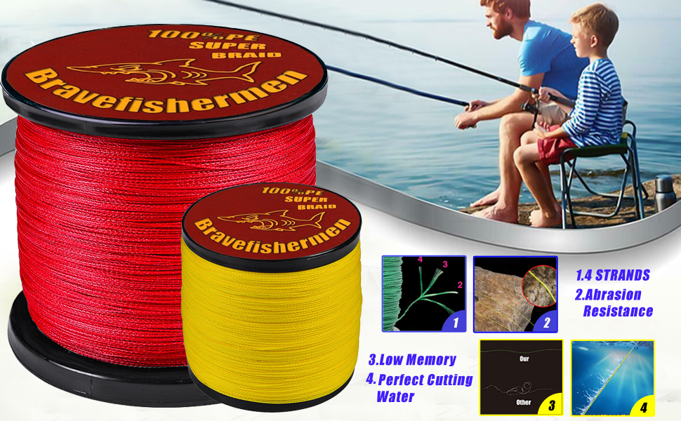 Braided Fishing Line, 4 Strands Fishing Line