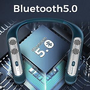 Haut-parleurs Bluetooth autour du cou