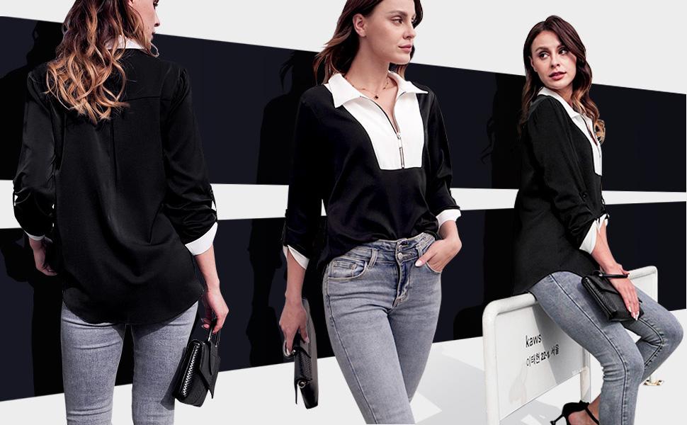 black blouses for women