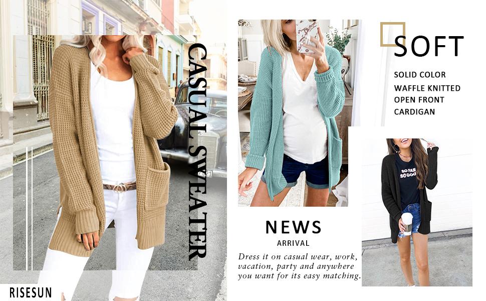 Women Open Front Sweater Cardigan Coat