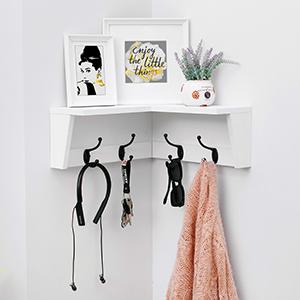 Corner Shelf With hooks