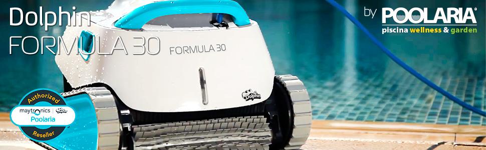 Poolaria Dolphin Formula 30 - Robot limpiafondos para Piscinas ...