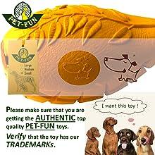 PET-FUN top quality dog chew toy mango