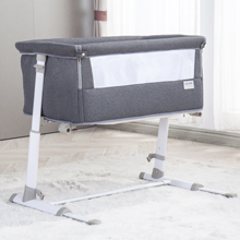 Baby Portabe Bed - Baby Bassinet,RONBEI Bedside Sleeper,Baby Bed To Bed,Babies Crib Bed, Adjustable Portable Bed For Infant/Baby Boy/Baby Girl/Newborn (Dark Grey)