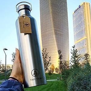 30oz big stainless steel water bottle