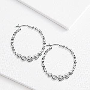 925 Sterling Silver Light-Weight Hoop Earring