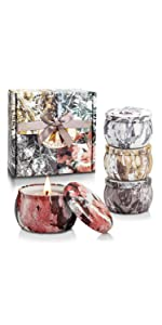 Scented Candles Aromatherapy Gifts for Women Glass Jar Candle Set Luxury Natural Soy Wax Fragrance