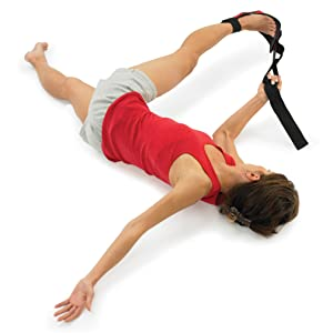 Hip, hamstring and glute stretch using the stretching strap