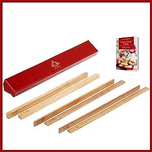 Moules à cadeaux - Pièces d'aide à la cuisson en bois - Rouleaux de pâtisserie pour enfants - Baguettes de pâtisserie