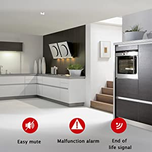 smoke alarm detector carbon monoxide fire alarm bell safety gas battery heat home house smart