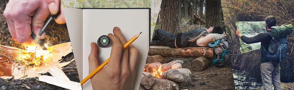 Männer Geschenke, nützliches camping gadgets für Wanderer und Camper. Funktionale Geschenke für ihn
