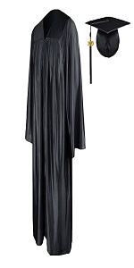 Graduation Gown Cap Shinny