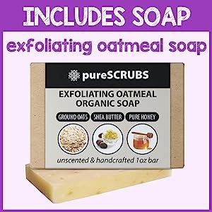 pureSCRUBS Organic Oatmeal Bar Soap Included With Scrub