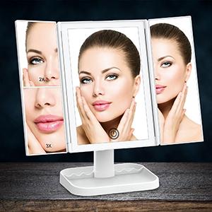 lighted makeup mirror