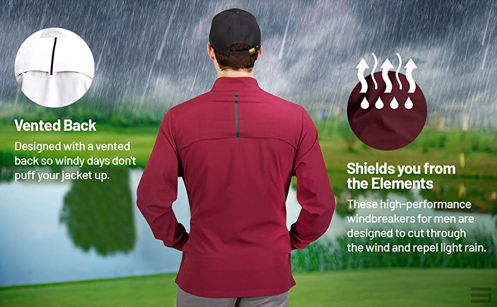Vented back for easy air flow and to eliminate puffiness. Fabric made to shield you from cold.