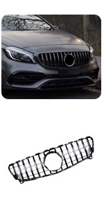 Benz W176 A Class A180 A200 A250 A45 AMG ABS Front Center Kidney Grille Trim Frame Grill GT Style