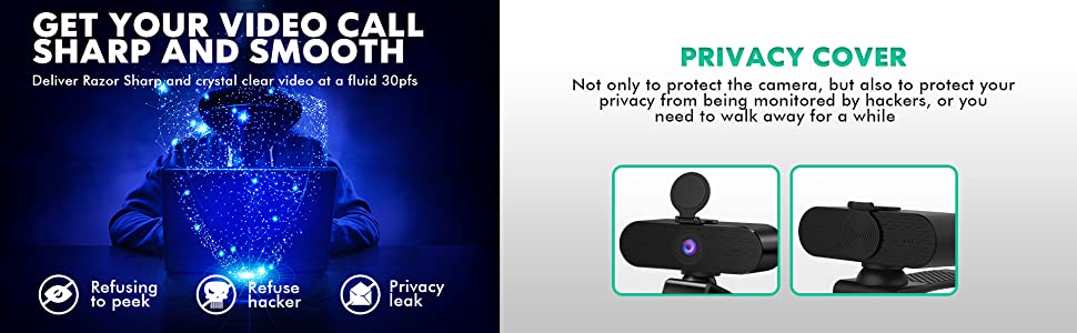 Computer Webcam 1080P FHD Lighting External Web Cam Covers Pro for Laptop with Tripod Stand C922