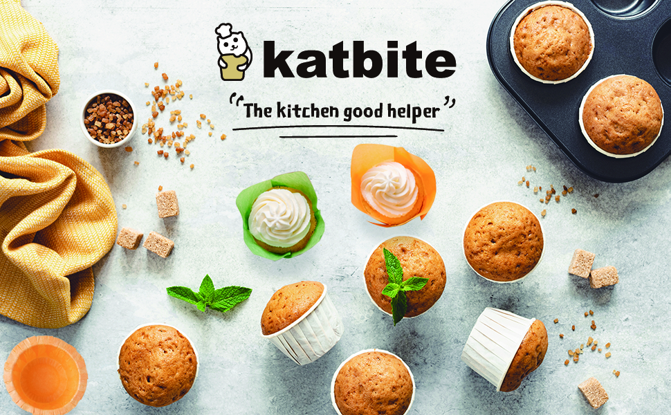 Katbite Cupcake Liner 150pcs Standard Muffin Liners, Disposable Baking Cups