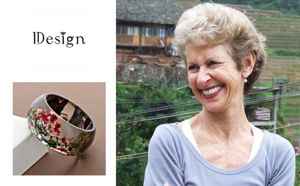 flowers bracelet for grandmother