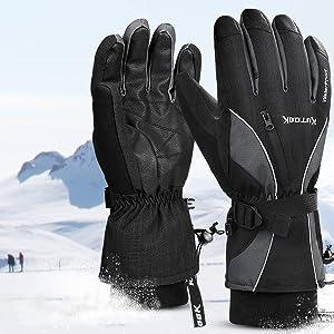 taille L noirs Basics Gants de ski imperm/éables