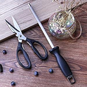 kithcen shears and rod