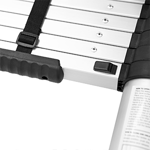 telescopic ladder telescoping extension ladder tool for roof rv heavy duty 12.5 ft