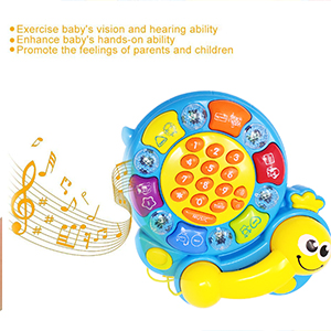 Musical Activity Tortoise Toy,Baby Phone Musical Toy, with Light ,Animal,Number & Color Recognition