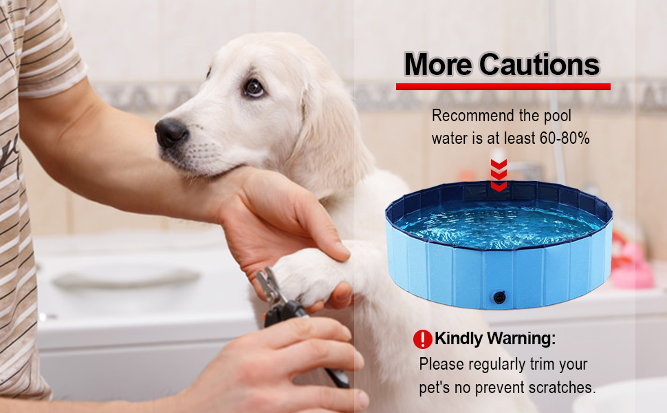 Small Dog Playing Pool Outside Paddling Pool For Pets Bathing Tub With Drain Plastic Pools For Dogs