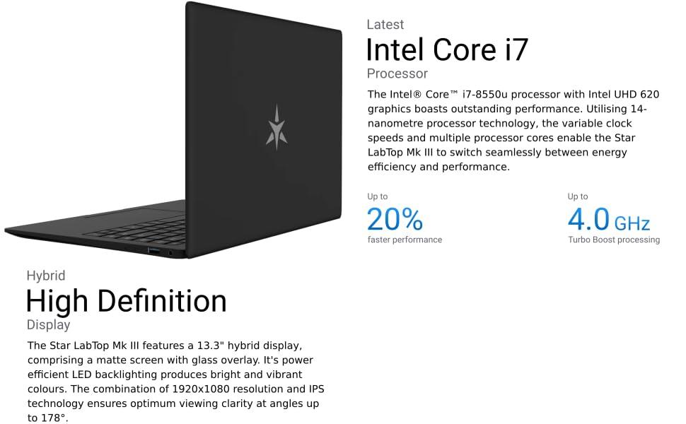 Star LabTop 13 3-inch Ultrabook Laptop (480GB OP SSD storage, Ubuntu  18 04 3 LTS)