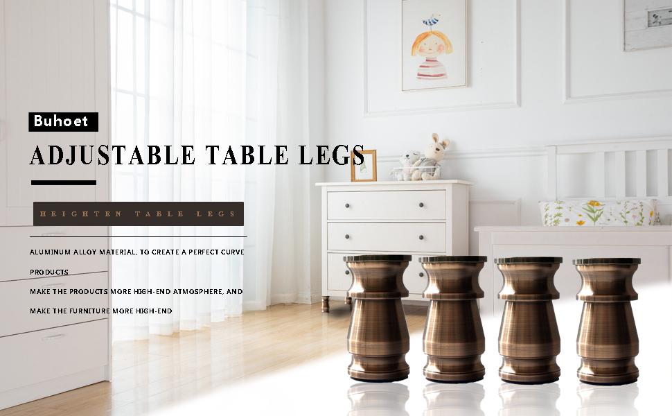 Buhoet adjustable table base