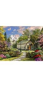 jigsaw puzzle, mountain view chapel, springbok