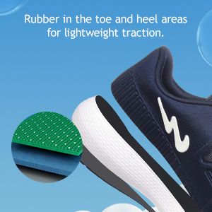Rubber In The Toe And Heel Areas For The Lightweight Traction