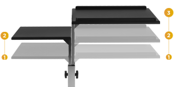Two Height Adjustable Trays